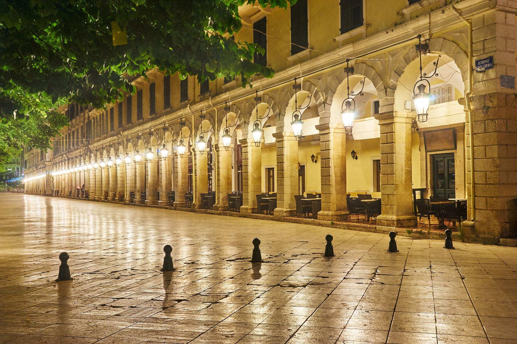 Corfu Liston by night